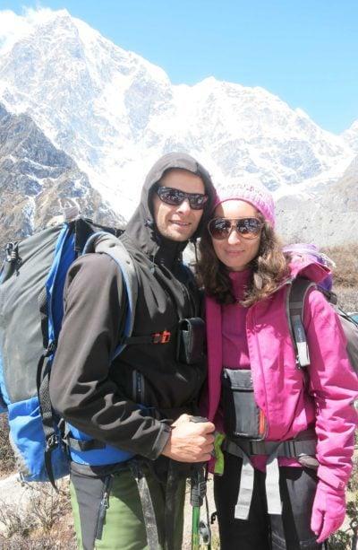 Stingy Nomads trekking to Everest Base Camp.