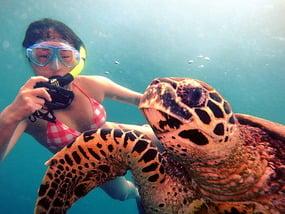 Gilli Trawangan- Norma on the snorkeling trip