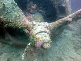 Togian Islands B24 Bomber wreck