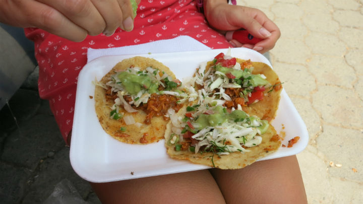 Tortillas always the cheapest street food.