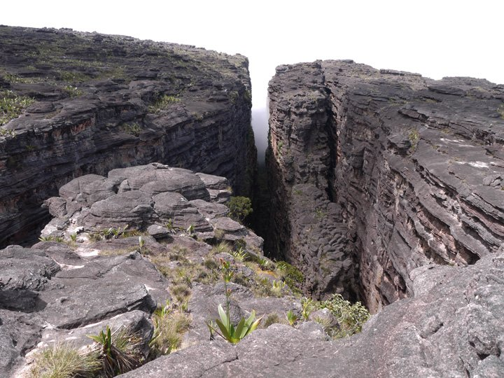 La Grieta, the crack. Roraima trek