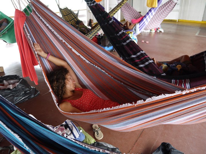 alya catching a snooze  amazon boat trip amazon boat trip by slow boat   awesome travel blog  rh   stingynomads