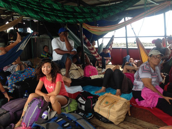 """Sitting on the deck of our """"refugee ship"""", The Islano D going back to the mainland overnight. Little Corn Island travel guide."""