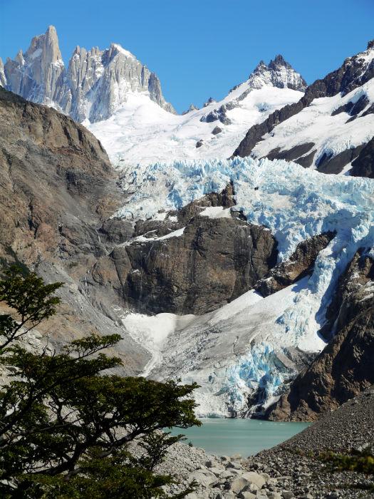 Glacier Pedras Blancas, the mirrador was a great stop for breakfast. El Chalten trekking guide