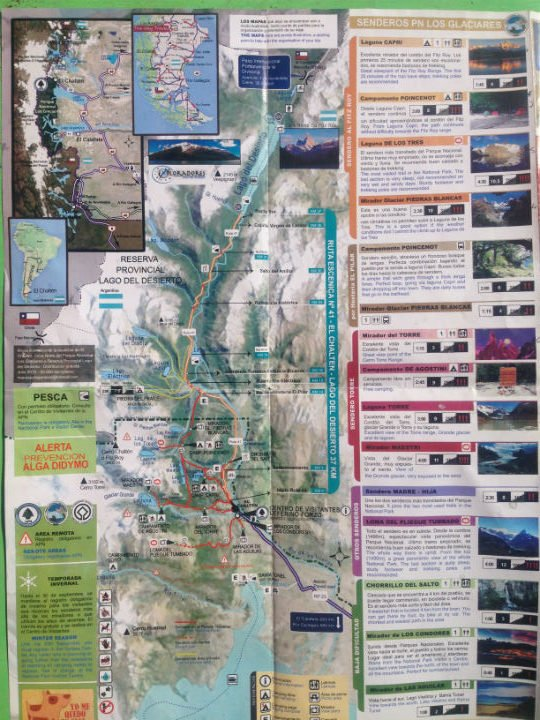 Fitzroy Hiking Map