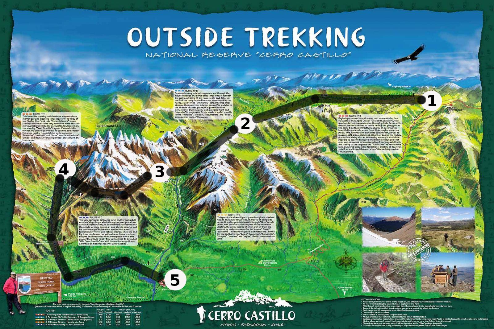 Cerro Castillo map