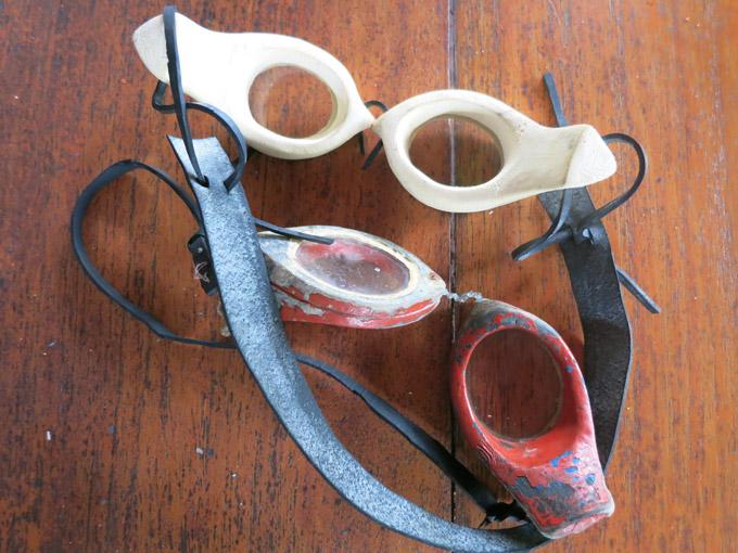 Local wooden masks