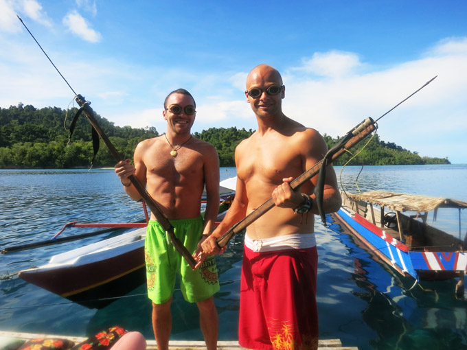 Ready for spearfishing with our local gear.