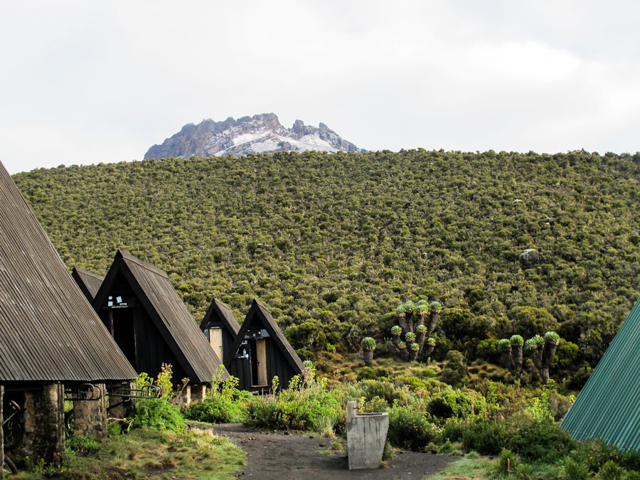 Huts on the Marango route climbing Kilimanjaro