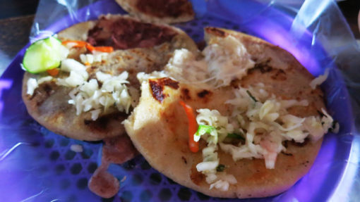 Pupusas, the national food and definitely one of the highlights of El Salvador. I will be making these babies at home!