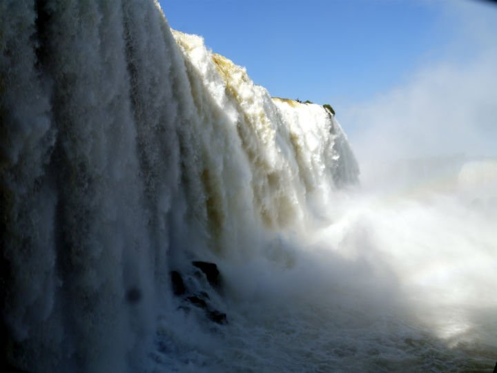 """Inside"" the devil's throat! Iguazu Falls"