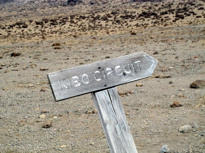 Kilimanjaro trek Arriving at Kibo Hut!