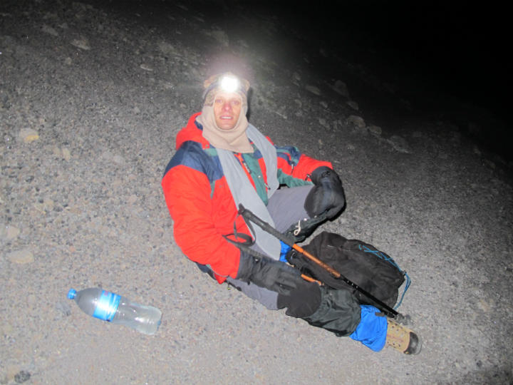 Taking break during the summit.