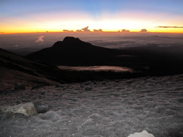 Sunrise on the roof of Africa!