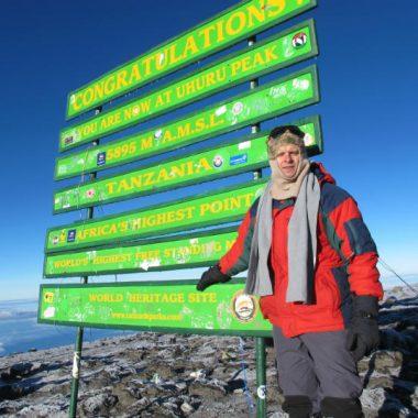 kilimanjaro trek arriving at the summit