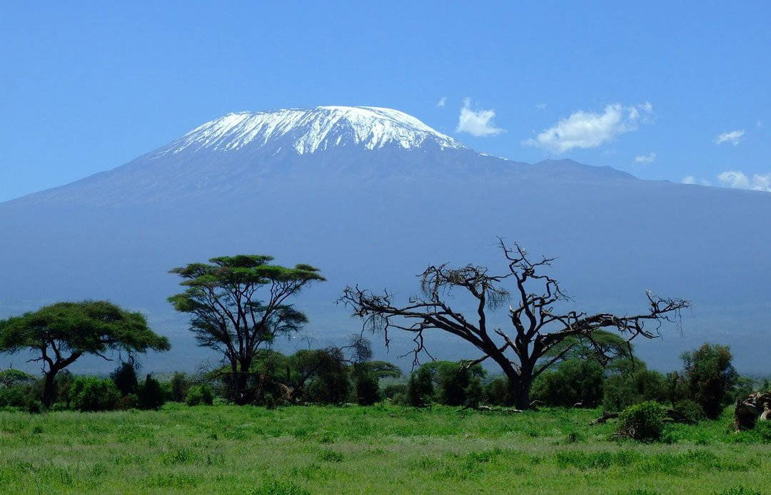Kilimanjaro, snow on the summit far away!
