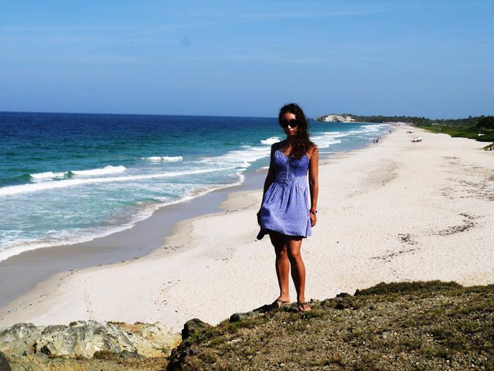 The beautiful Playa Parguito, travel Venezuela.