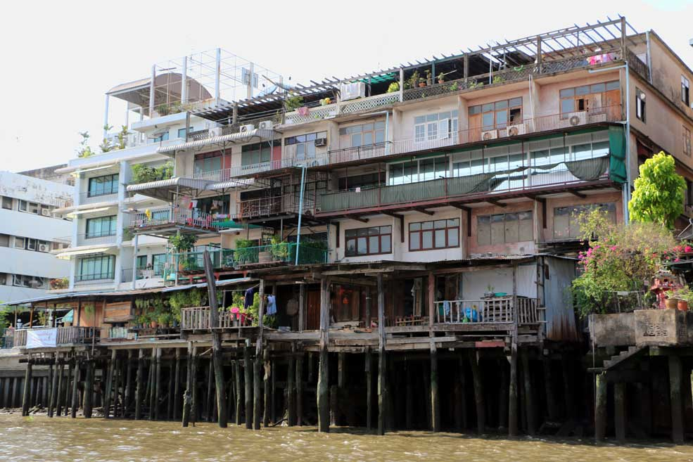 Little India, view from a river boat, Bangkok