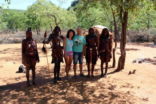 We with Himba tribe, Opuwa, Namibia