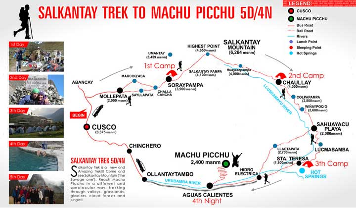 Salkantay trek to Machu Picchu, Peru.