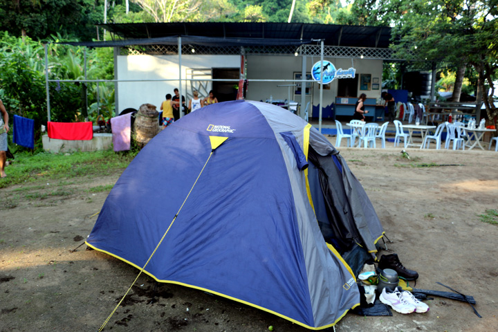 Camping at Maya, next to Anti Gravity divers, Perhentian Kecil
