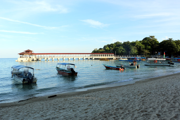 Pier at Coral Bay beach