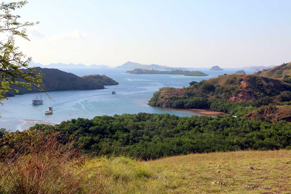 Beautiful view from Rinca island. Flores backpacking guide