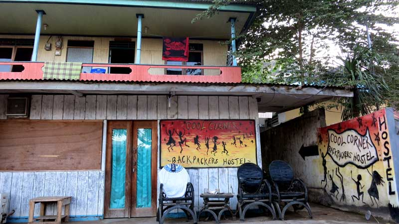 Cool corner backpacker's hostel. Flores backpacking guide