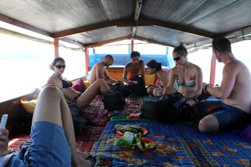 Our fun diving boat on the way to Komodo. Flores backpacking guide