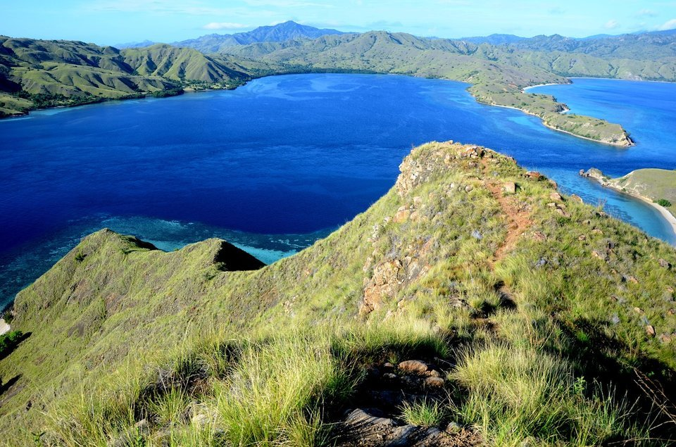 Stunning view from the top, Padan island, Flores