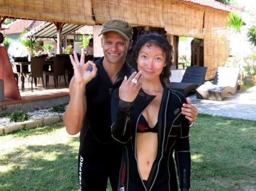 After our engagement diving at Penida Diver Resort, Nusa Penida, Bali