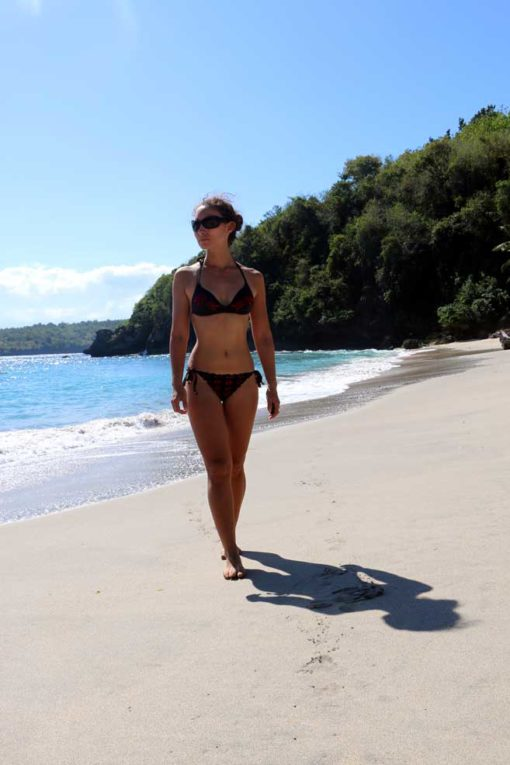 Me at Crystal Bay beach. Nusa Penida backpacking guide