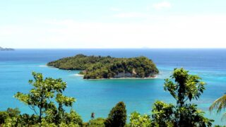 Stunning view from Pulau Weh on a small neighbor island
