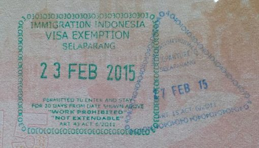 Free non extendable visa on arrival (basically just a stamp)