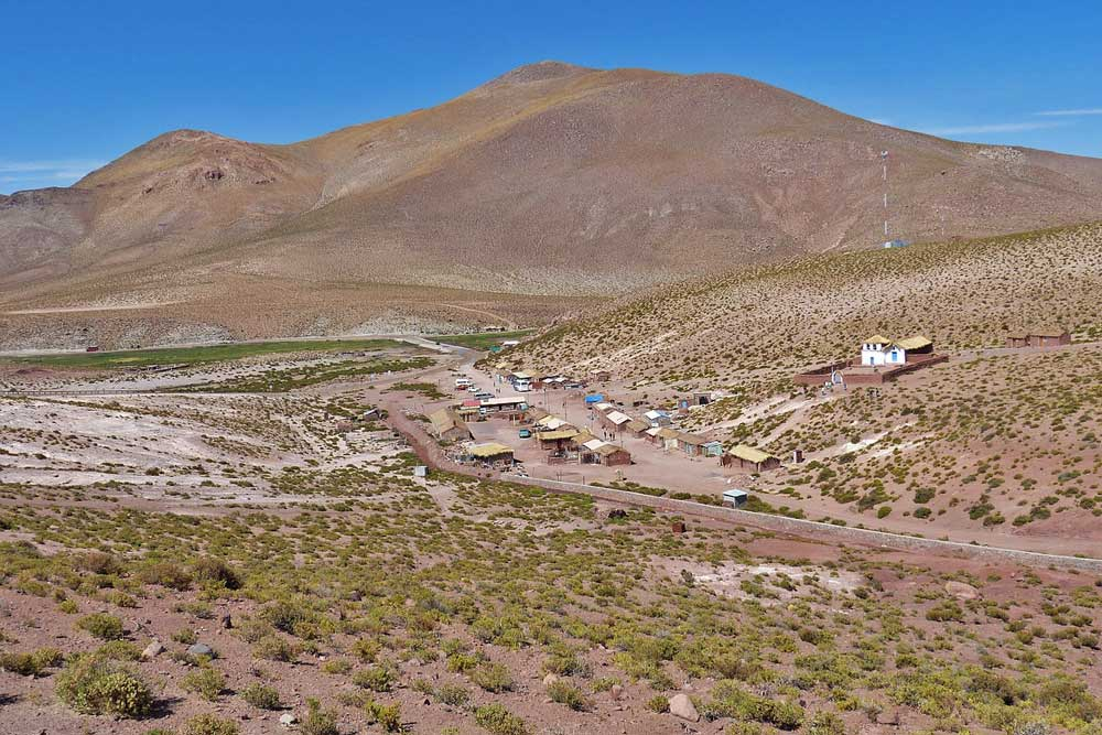 A tiny village of Machuca surrounded by the desert, Atacama, Chile