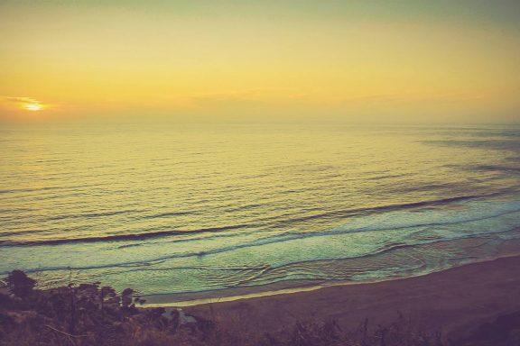Sunset, beach, Pichilemu, Chile