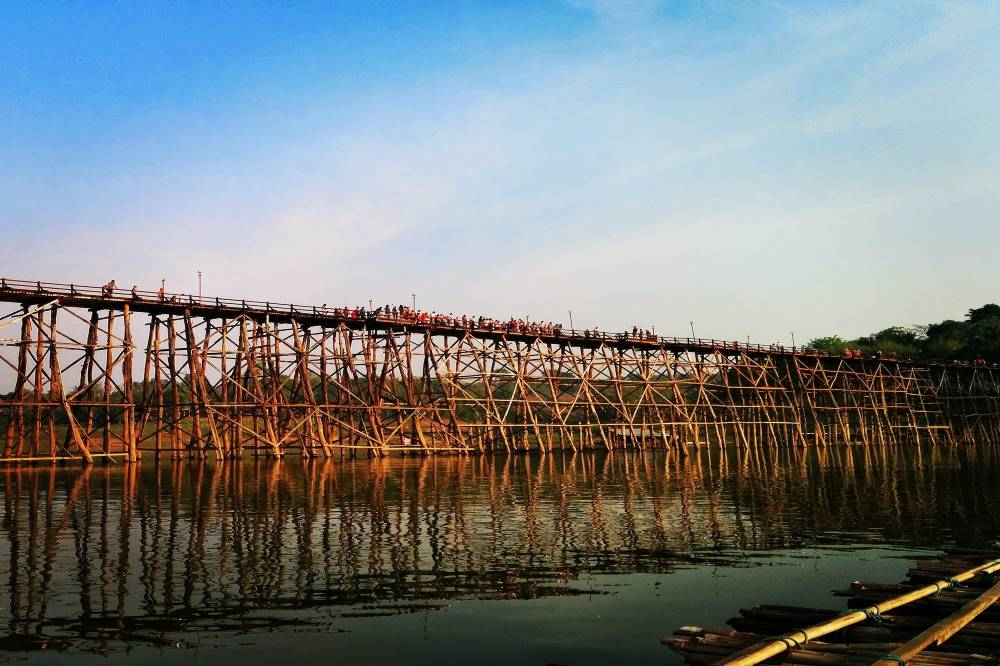 The Mon bridge in Sangkhlaburi