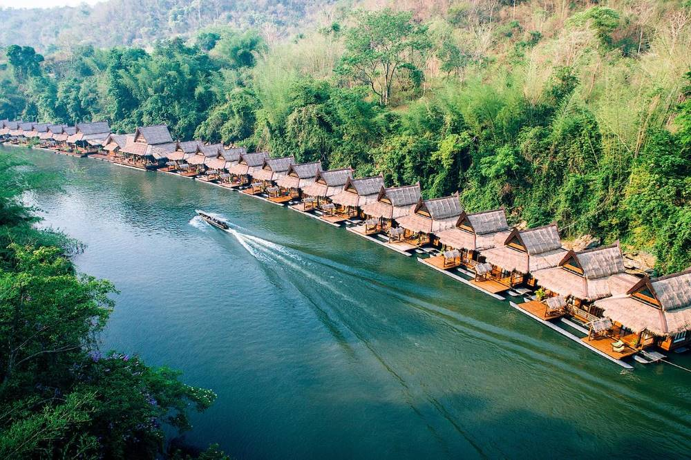 The Float House River Kwai. Best places to visit near Kanchanaburi