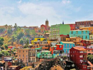 Colorful houses of Cerro Concepcion, Valparaiso