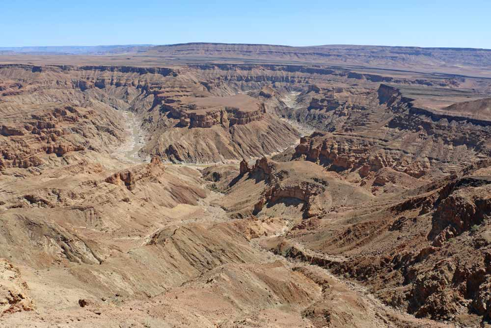 Fish River Canyon from the viewpoint, Namibia