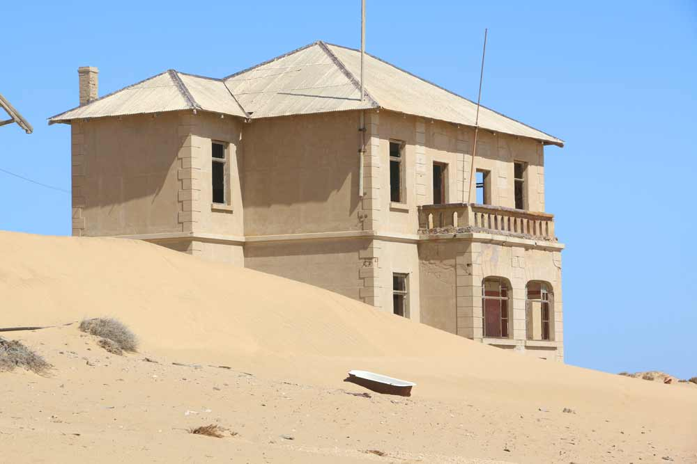 A house in the ghost town near Luderitz on the Cape Town - Namibia road trip