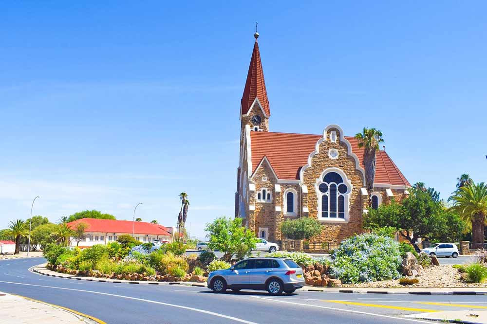 Chris Church in Windhoek, the beginning of the Namibia to Victoria Falls trip