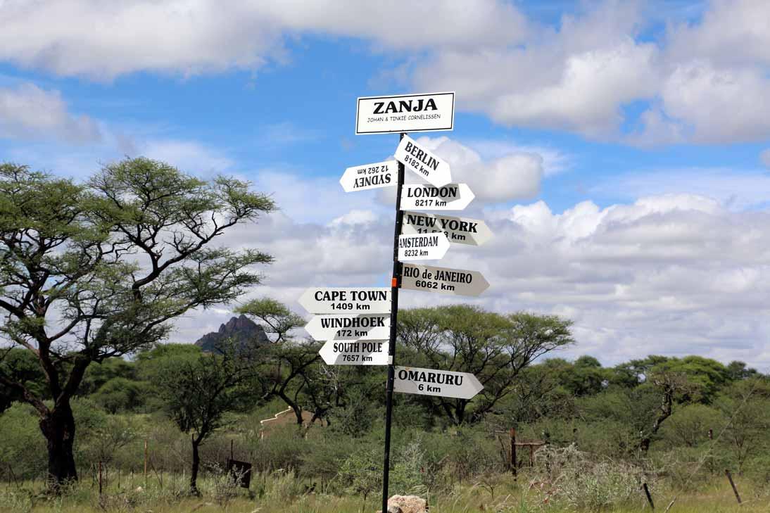 On the way to Omaruru. Namibia road trip guide