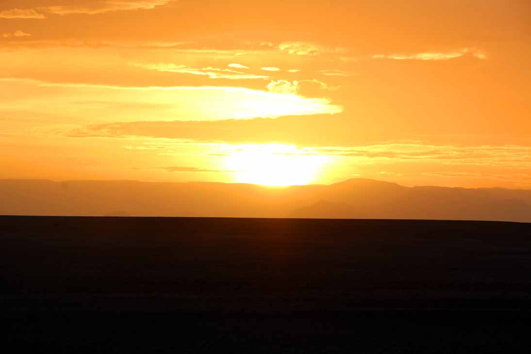 Meeting sunrise on the way to Dune 45, Sossusvlei