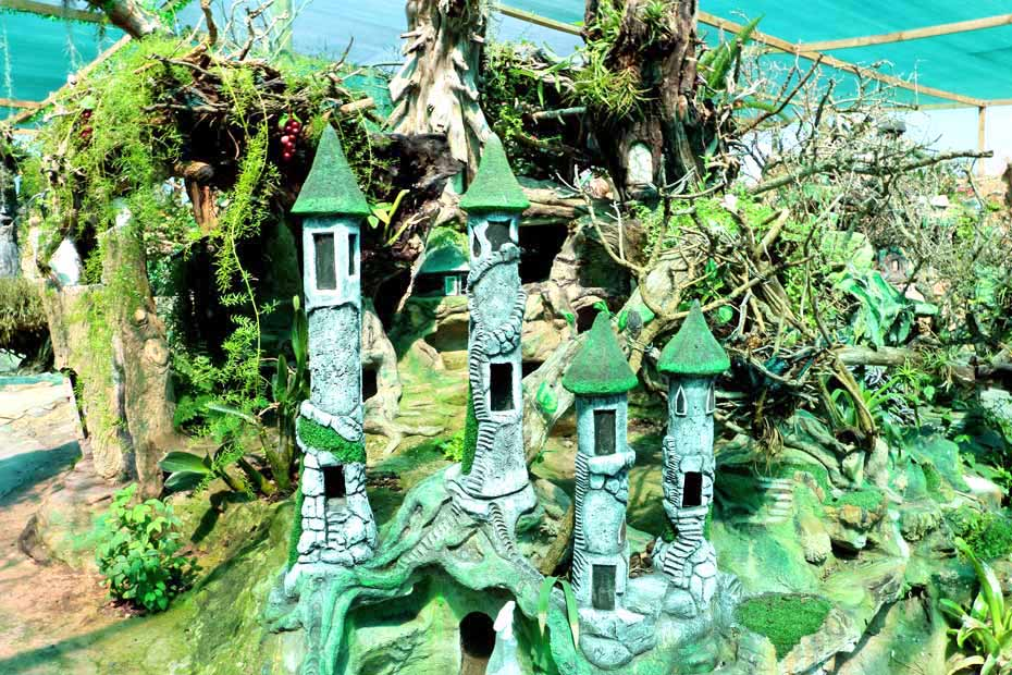 A green toy castle built for Pixie and Fairy Land in Jacobs Bay
