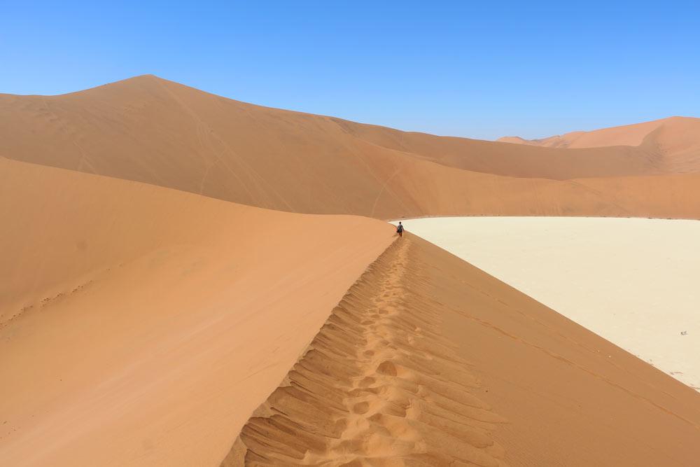 Dunes around Deadvlei in Sossusvlei, Namibia