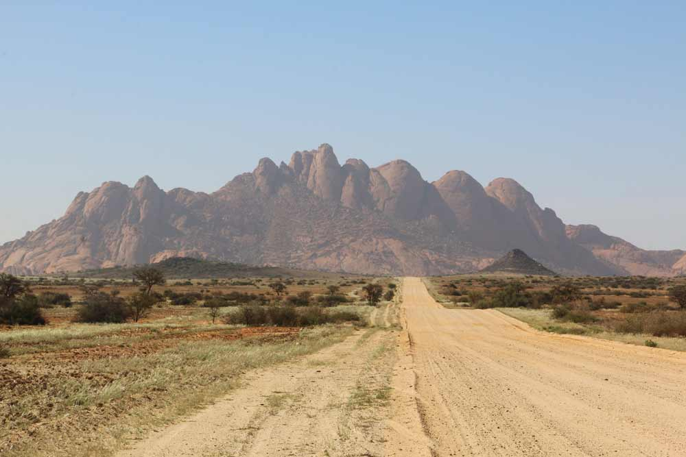 Smooth rocky mountains of Spitzkoppe, Namibia