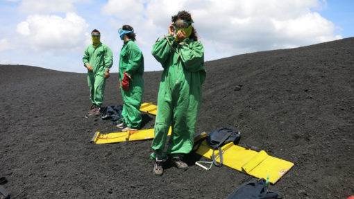Volcano boarding from Antigua was awesome!