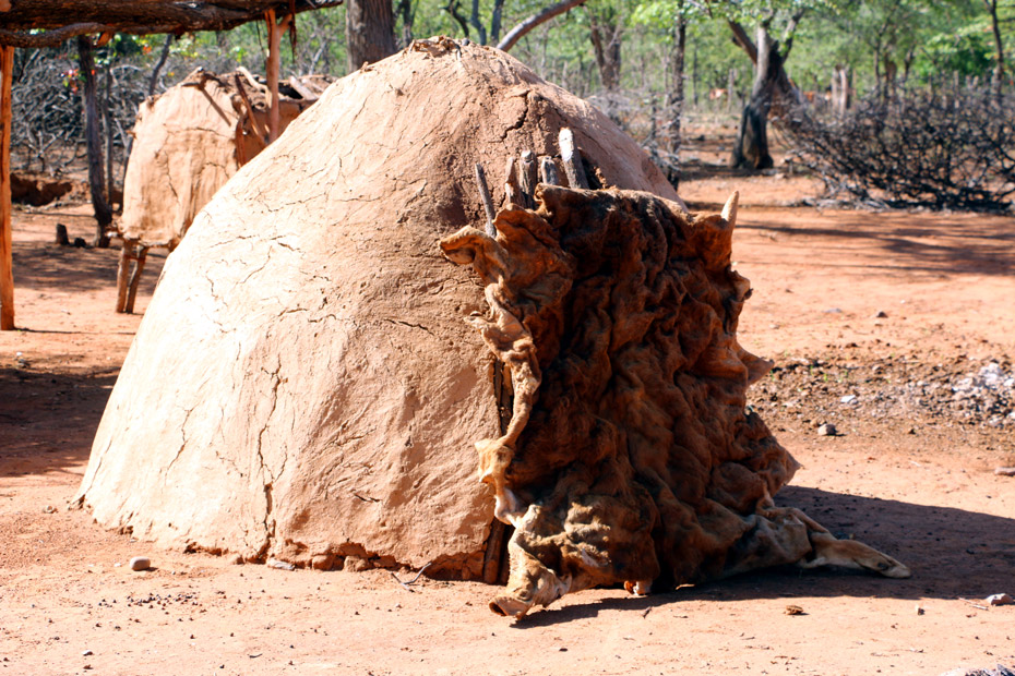 Traditional Himba house, made of clay