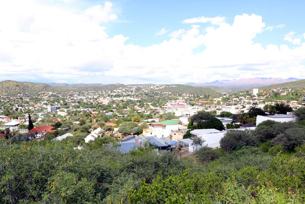 Windhoek from the Botanic garden